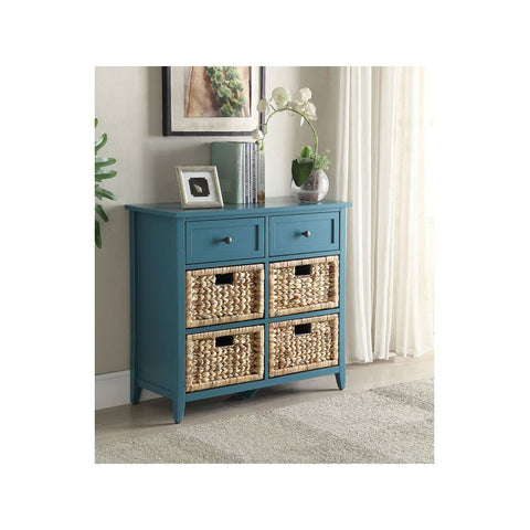 Rectangular Side Table Sofa Table With Three Doors