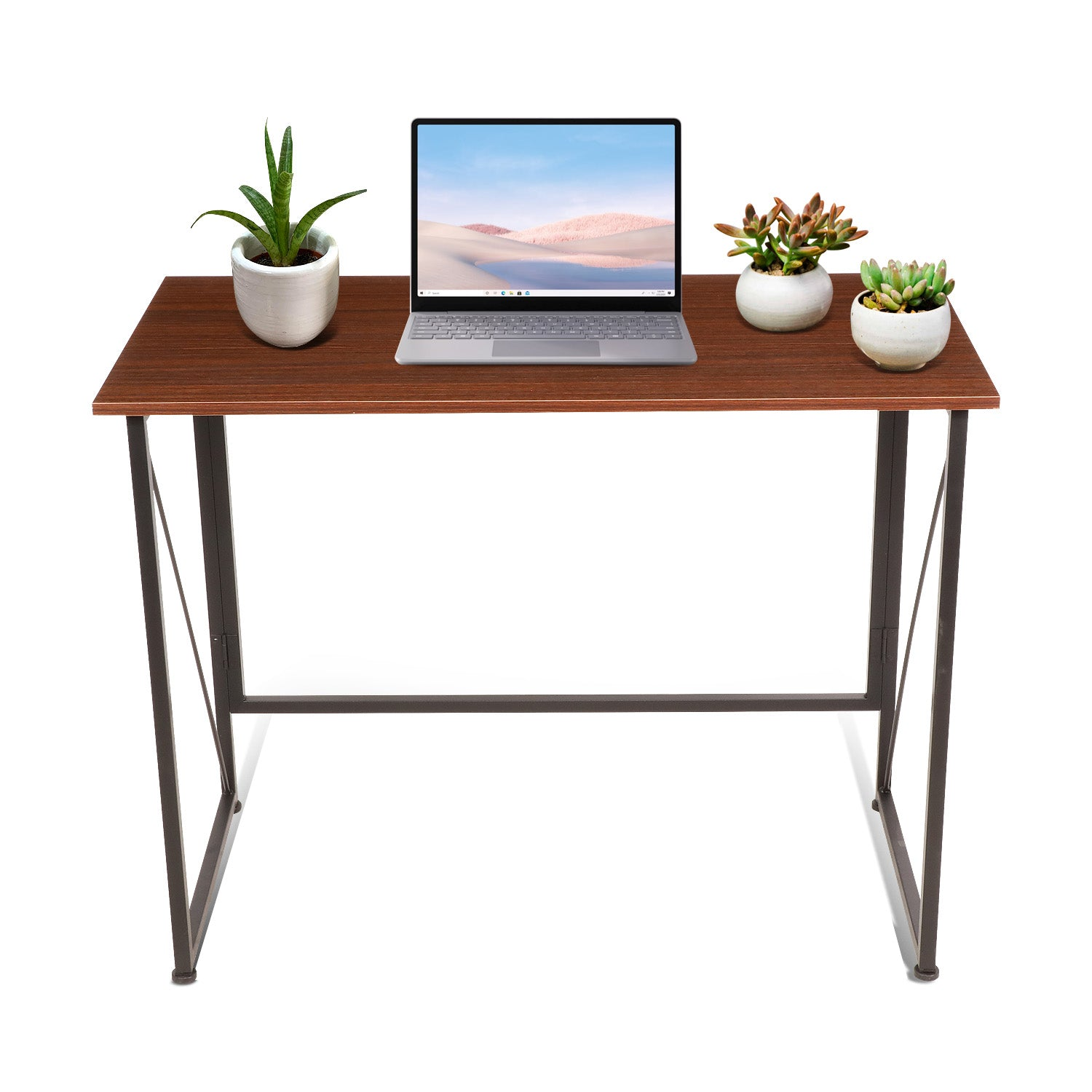 Saddle Brown Foldable Writing Computer Desk  40 inch