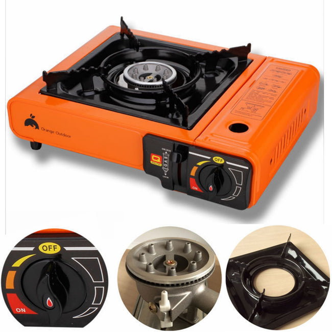 Butane Stove Outdoor Picnic Camping Gas Burner Orange