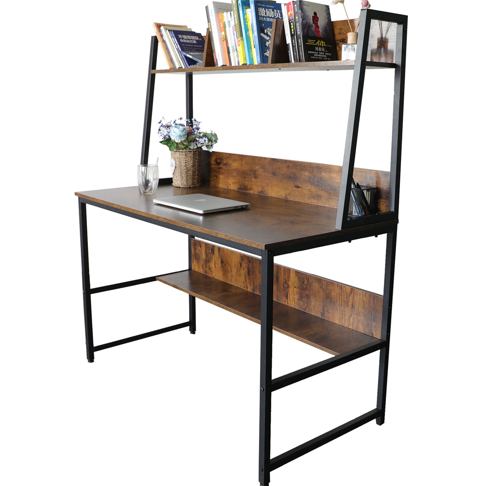 "Dark Olive Green 47"" Computer Desk with Hutch and Bookshelf BHW7062956"