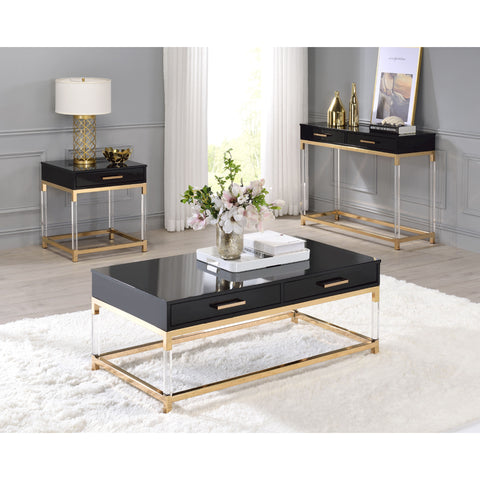 Rectangular Console Table Sofa Table With Two Shelves And Open Storage BH72680