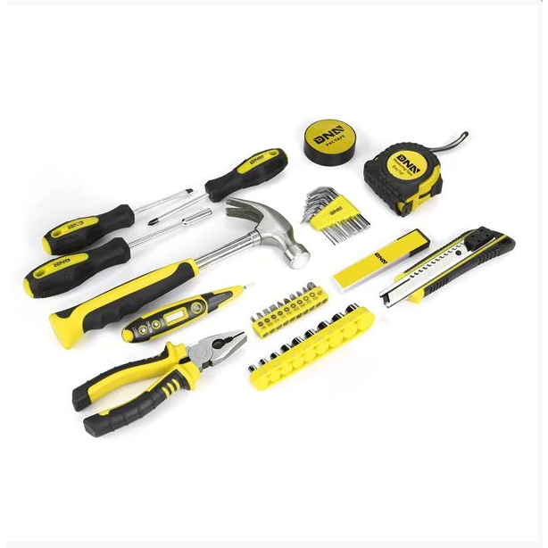 Light Goldenrod DNA - 46 Pieces Household Hand Tool Kit With Toolbox
