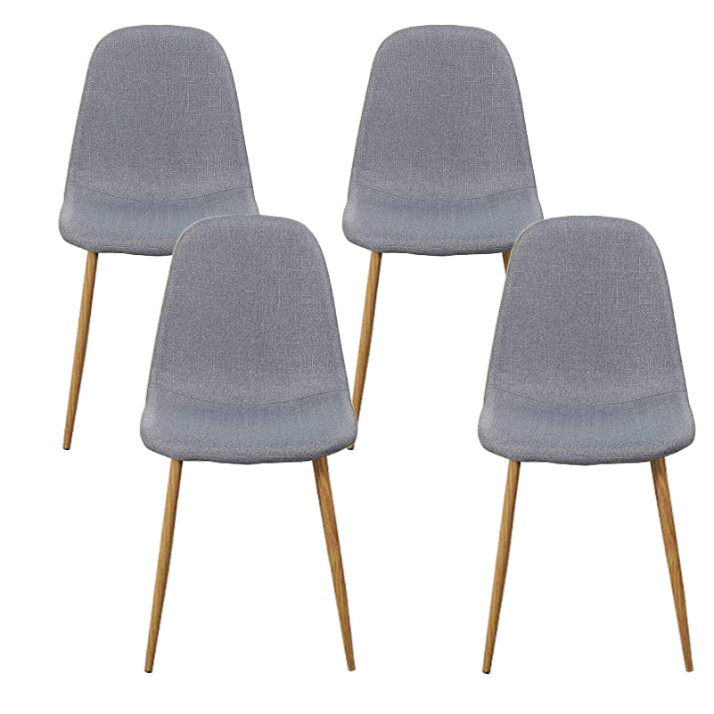 Side Metal Legs Cushion Seat Back Dining Room Chairs Set of 4