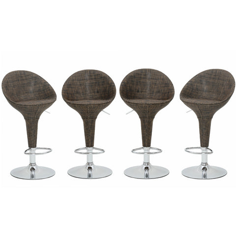 "Coaster 100159 | 29""H Curved Arms And Legs Bar Stool Bronze"