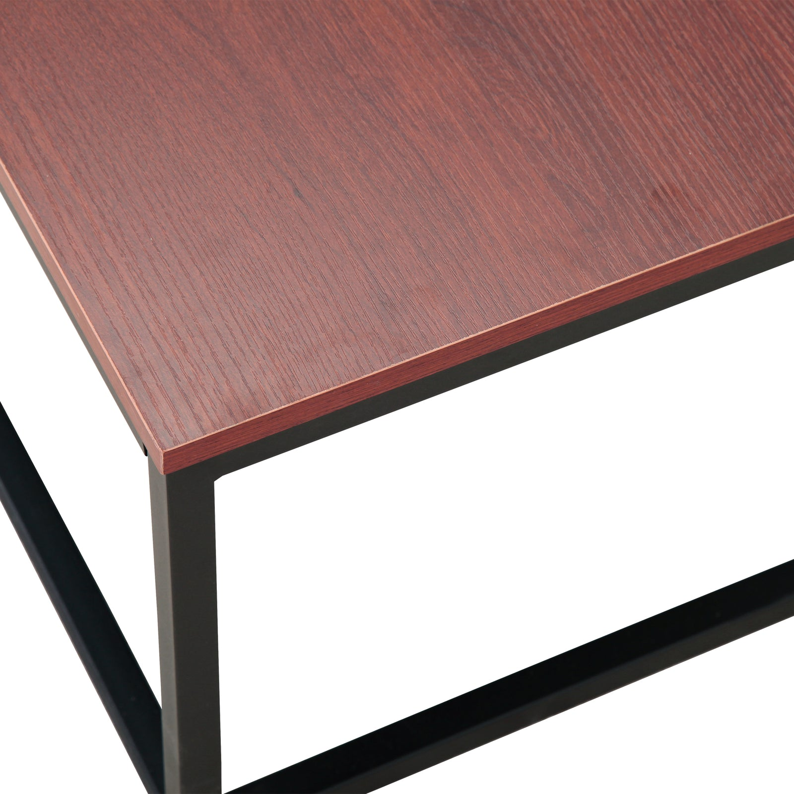 Coffee Table Dining Table - Red Brown