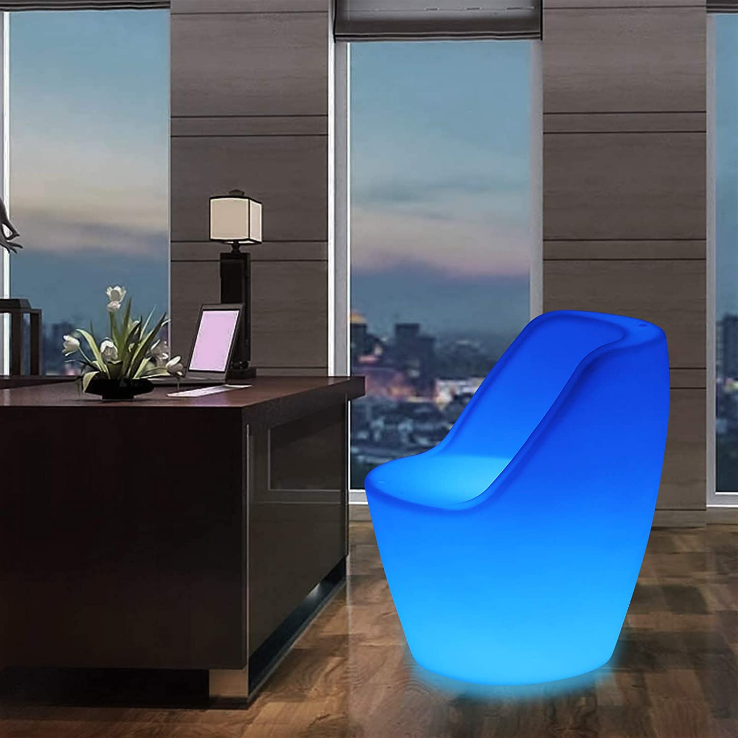 Dodger Blue 16 Color LED Light Up Chair Furniture Pub Club Lounge Party Seat