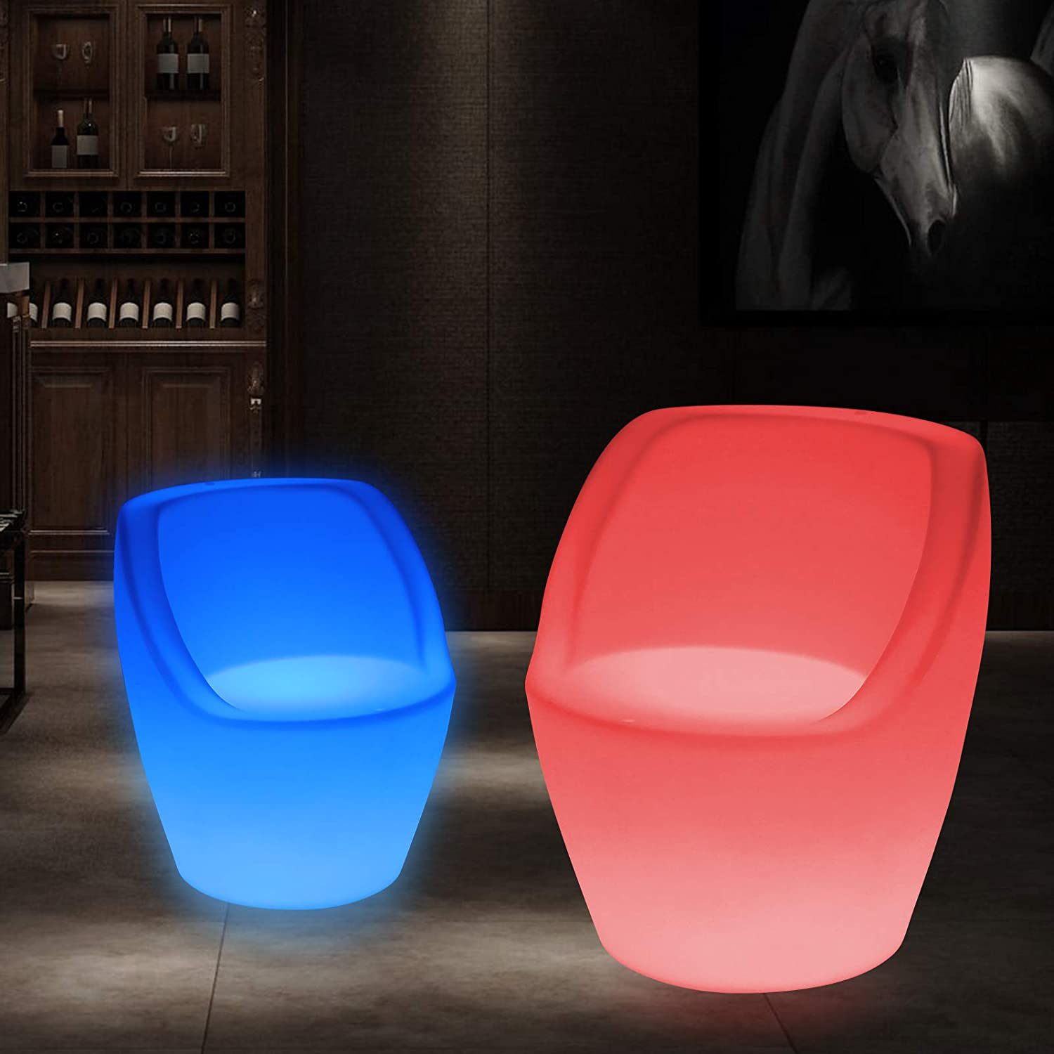 Tomato 16 Color LED Light Up Chair Furniture Pub Club Lounge Party Seat