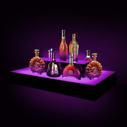 LED Liquor 3-Tier Shelf Display,L Shape