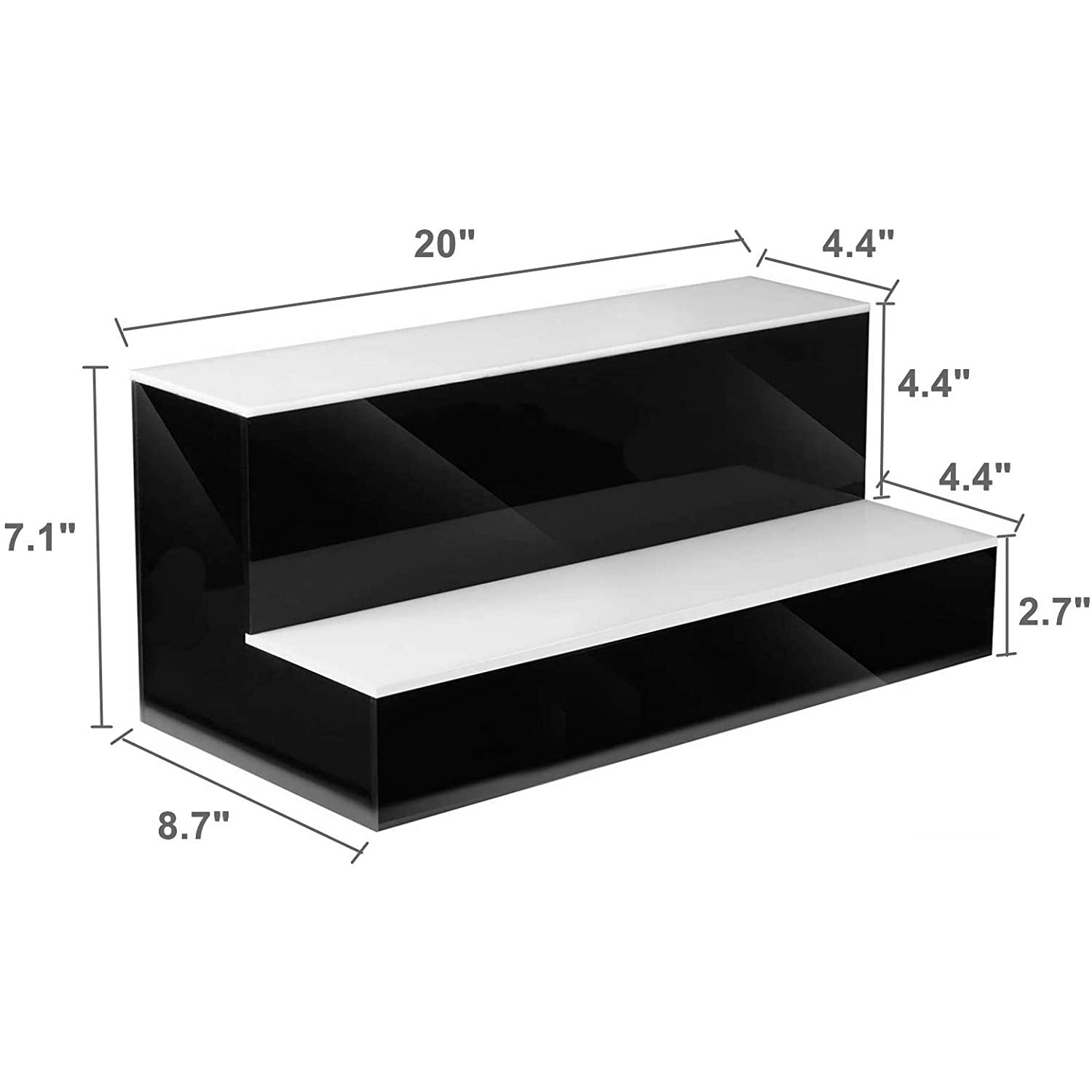 Black LED Dynamic Liquor Shelf 16 inch /20 inch  Remote Control