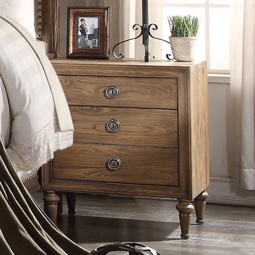 Inverness 3-Drawer Nightstand in Reclaimed Oak BH26093