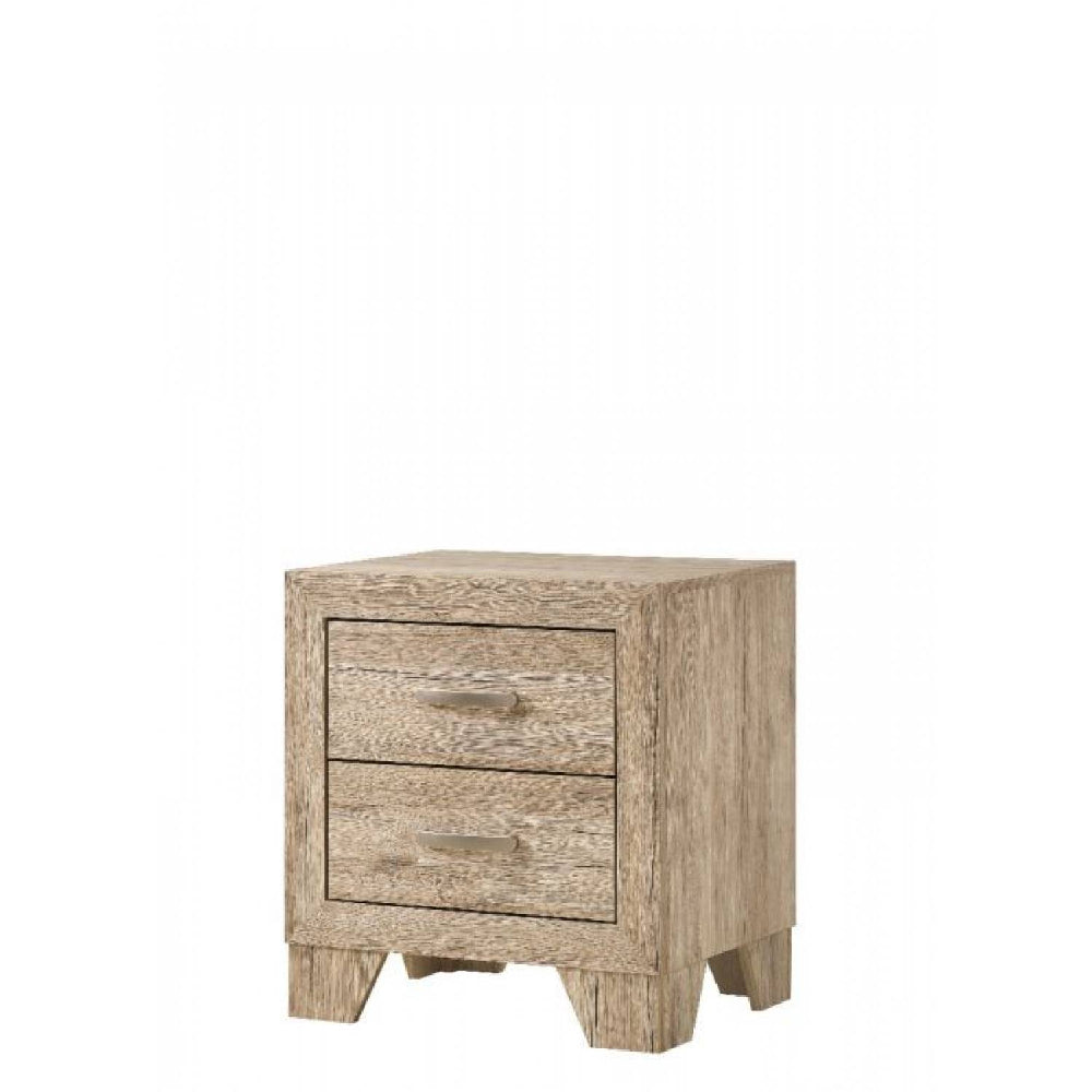 Rosy Brown 2-Drawer Nightstand With Wooden Block Legs BH28053 BH28043