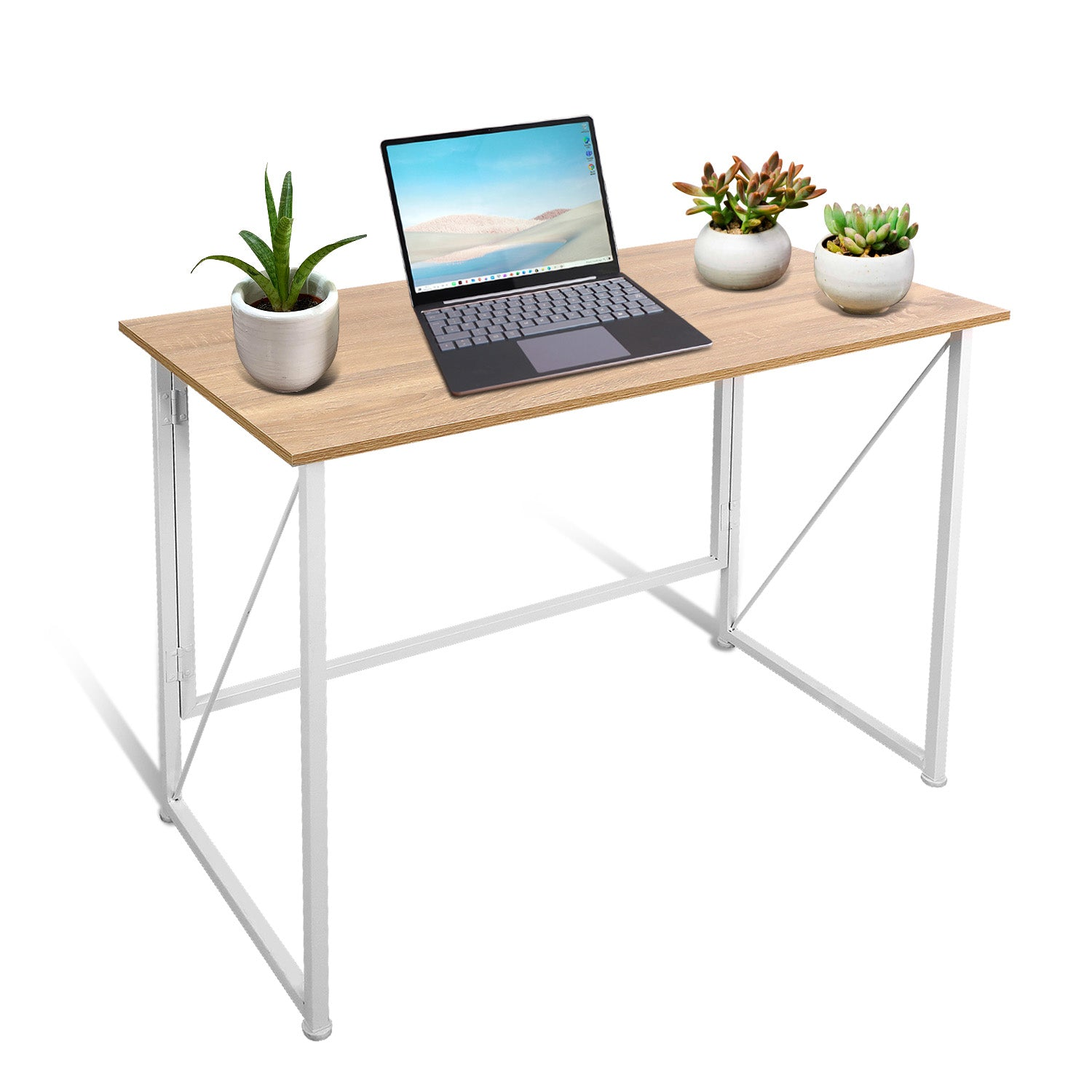 Tan Foldable Writing Computer Desk  40 inch