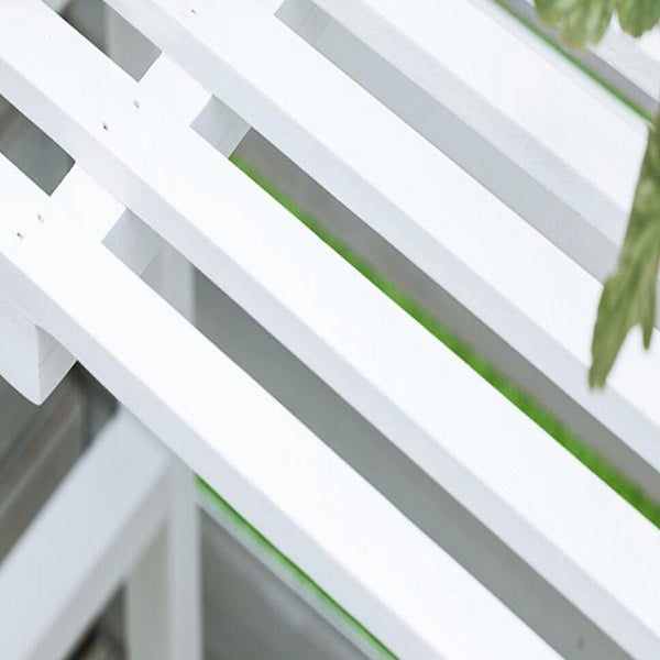 White Smoke Multi Tier Outdoor Plant Stand Garden Plant Shelf Table Outdoor Corner Rack White Wood - 2 Size