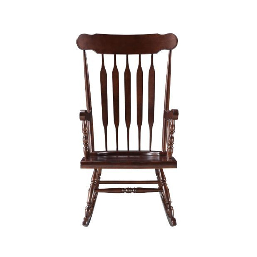 Raina Wooden Rocking Chair Living Room Cappuccino Finish BH59934