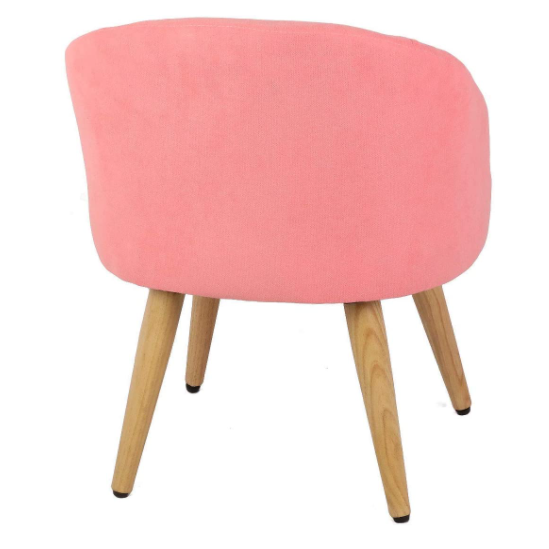 Light Coral Vanity Stool Chair Ottoman Makeup Bathroom Accent Stool