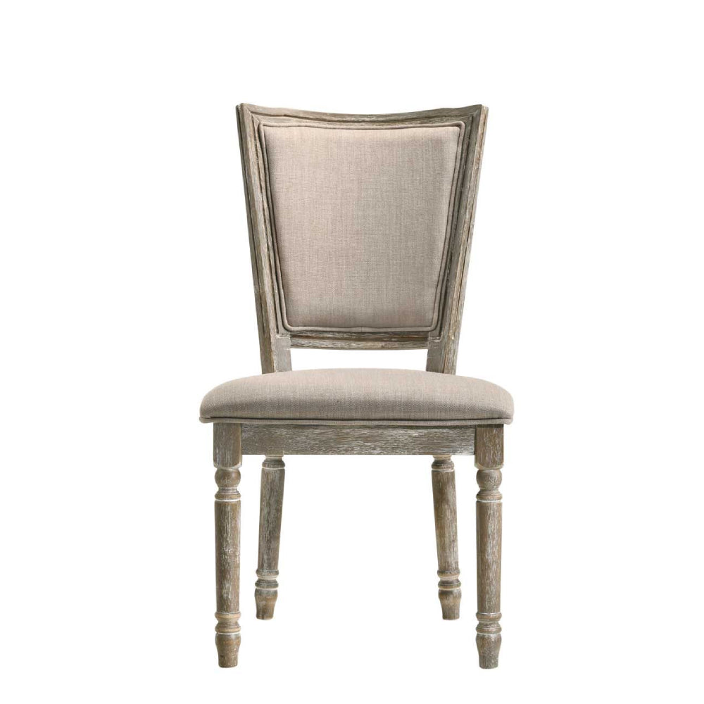 2 Counts - Armless Side Chair With Padded Seat & Back Fabric & Reclaimed Gray BH60172