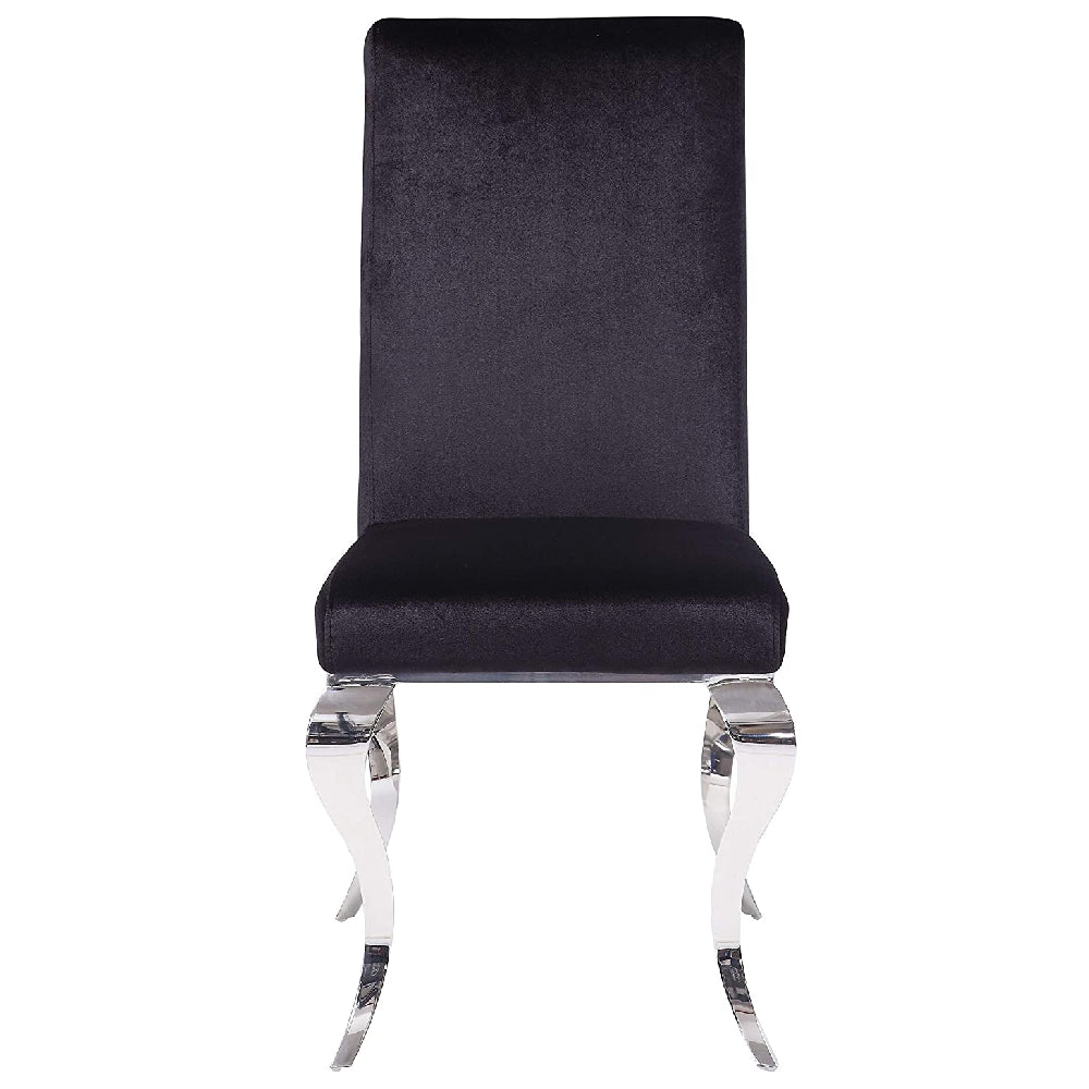 2 Counts - Fabiola Armless Side Chair With Padded & Back in Fabric & Stainless Steel BH62072