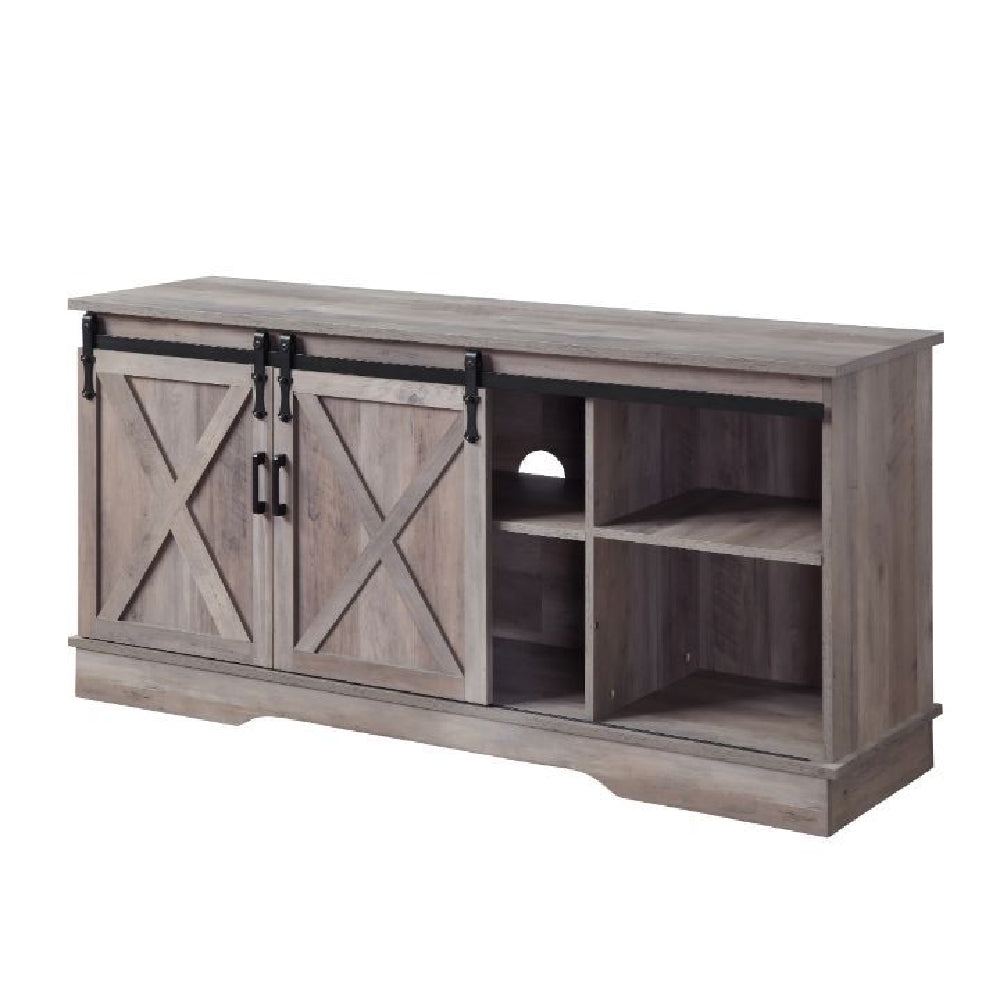Bennet TV Stand With 2 Doors Gray Finish