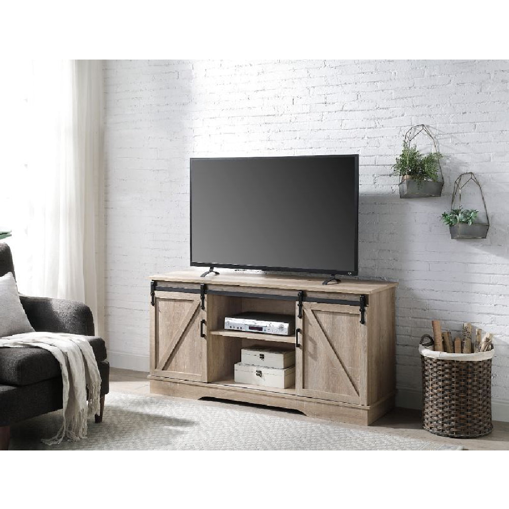 Bennet TV Stand With 2 Doors Oak Finish