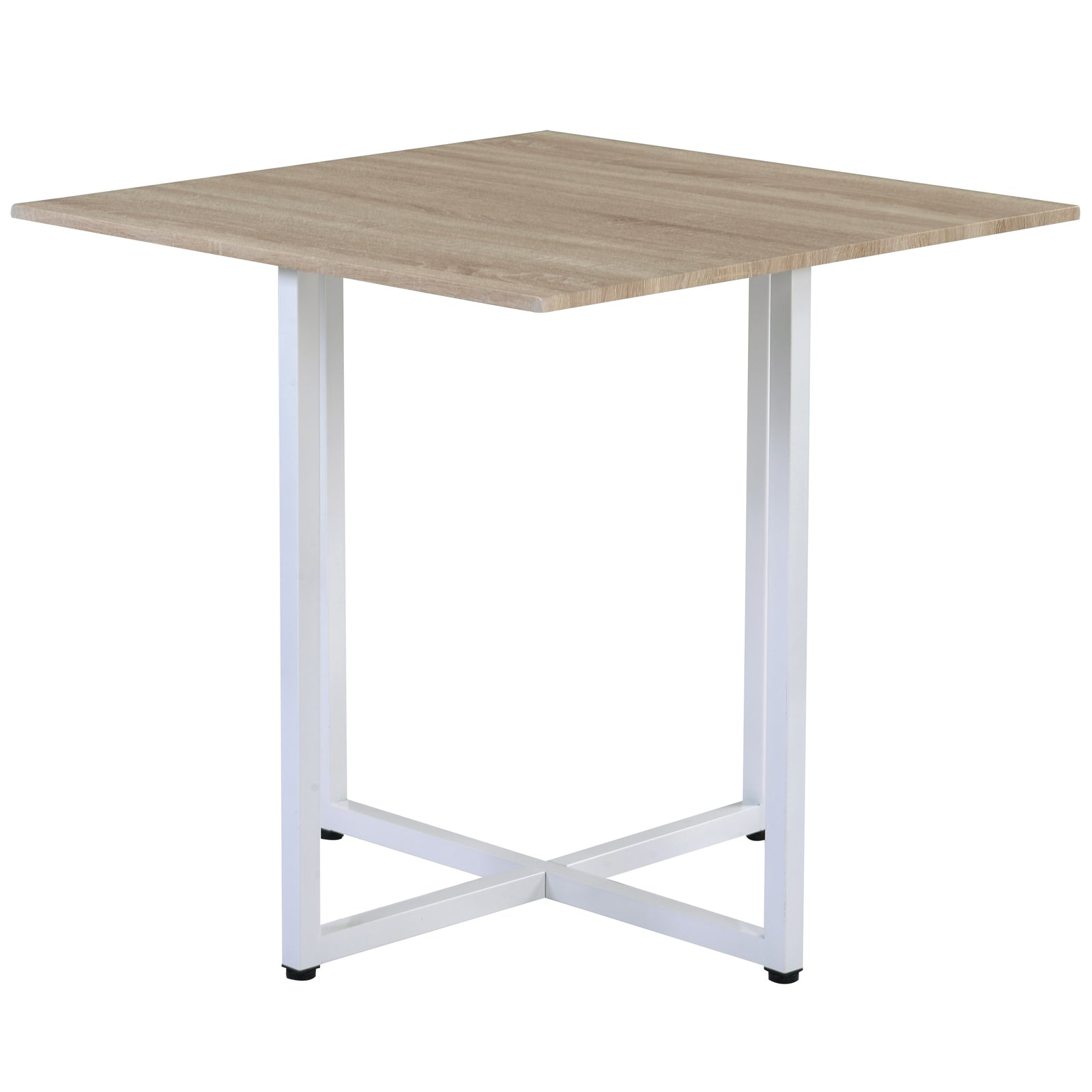 5 Counts - Dining Set Bar Table Set for 4 Kitchen/Living Room/Bar/Restaurant White - Table