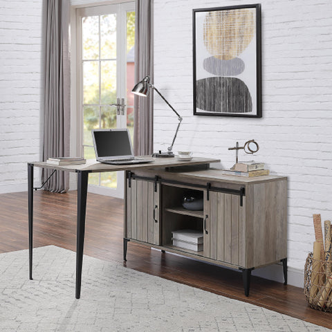 Adelae End Table With Metal Base Faux Marble & Chrome BH83937