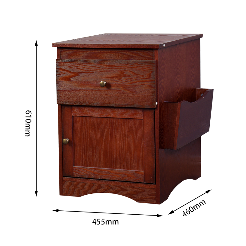 Bedroom Furniture Bedside Storage Cabinet Multifunctional Drawer Cabinet Espresso - Size