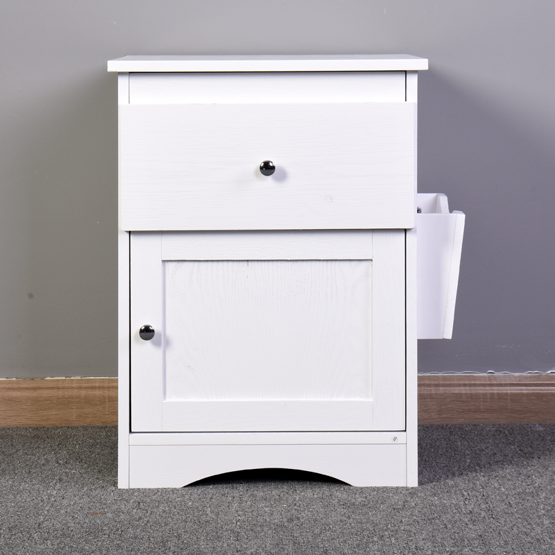Bedroom Furniture Bedside Storage Cabinet Multifunctional Drawer Cabinet White