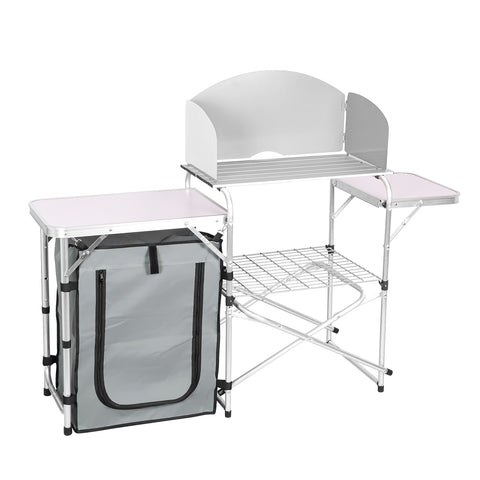 Aluminum Portable Folding Camping Picnic Table with Chair Seat Bench Set (Bench Design)