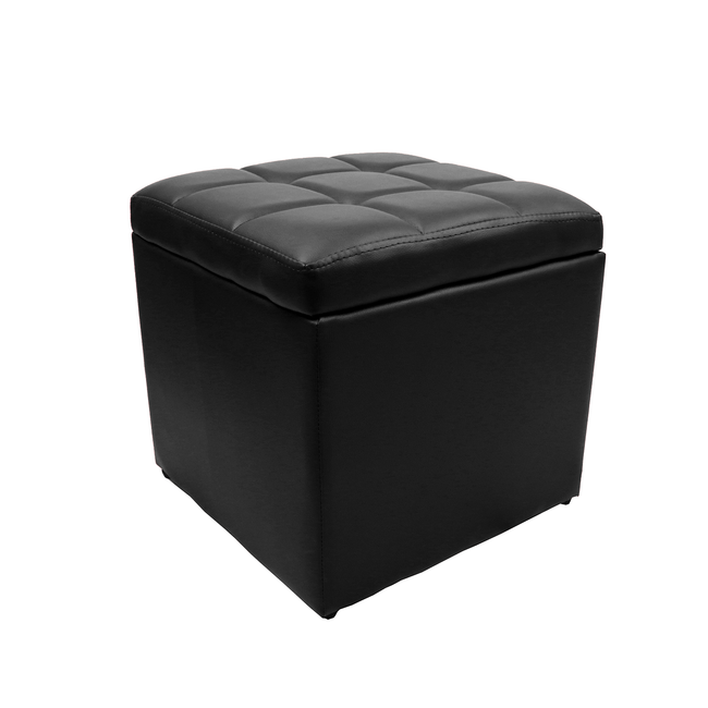 Square Unfold Leather Storage Ottoman Bench 7 Color