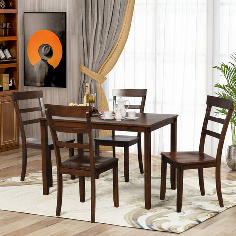 7 Piece Weathered Gray Solid Wood Fixed Table Dining Set