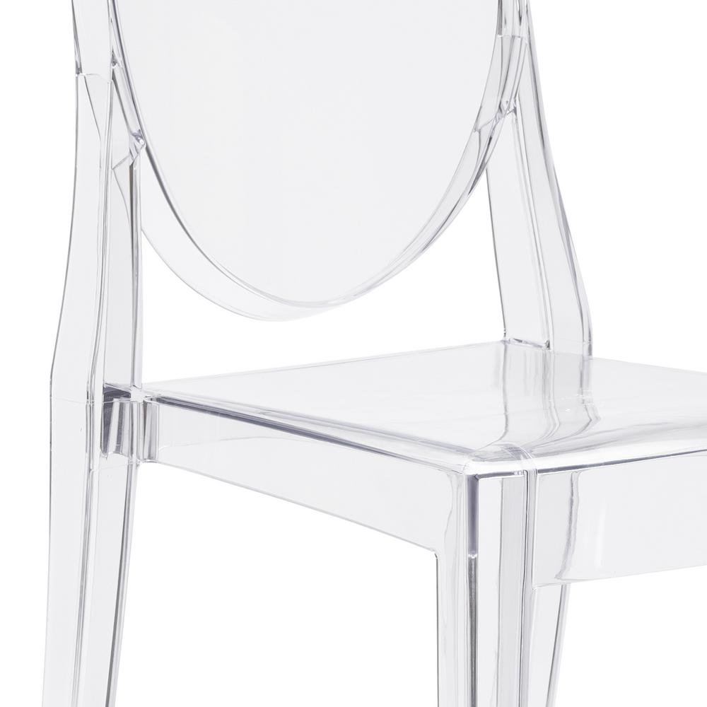 Set of 4 Ghost Dining Side Chair in Transparent Crystal Clear