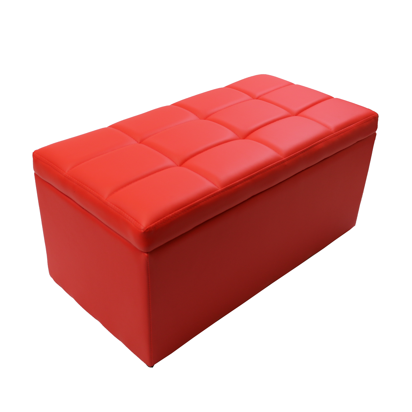 Elegant Rectangular Unfold Leather Storage Ottoman Bench 7 Color