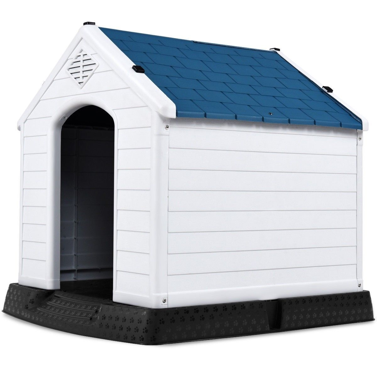 Waterproof Dog Cat Kennel Puppy House Outdoor Pet Shelter Up to 80lb
