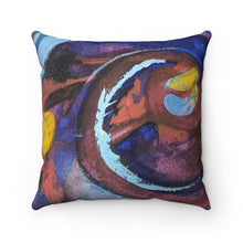 """Wave of Life"" Spun Polyester Square Pillow"