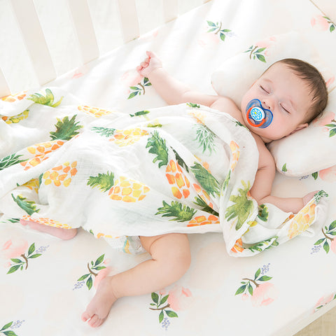 Muslin Swaddle Blanket cotton and bamboo blend