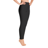 P&P Yoga Leggings Fine Print Black