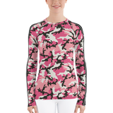 P&P Women's Rash Guard Pink Camo