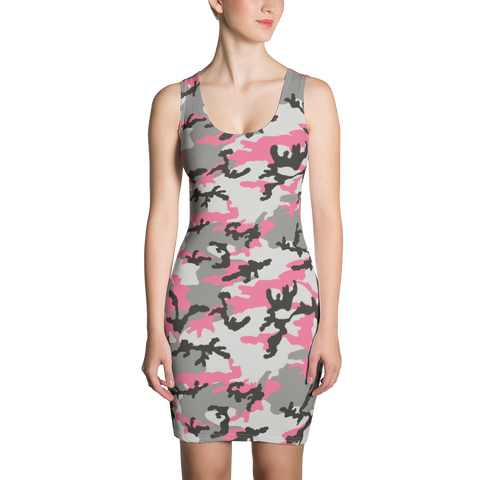 P&P Dress Pink/Grey Camo