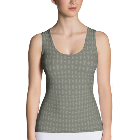 P&P Tank Top Olive Green Logo Star