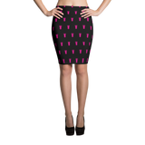 P&P Pencil Skirt Black/Pink