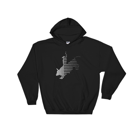 P&P Hooded Sweatshirt US Bull Rider Black/White