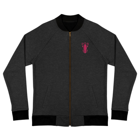 P&P Bomber Jacket Pink Logo Embroidery