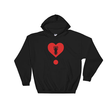 P&P Hooded Sweatshirt Dotted Heart Red