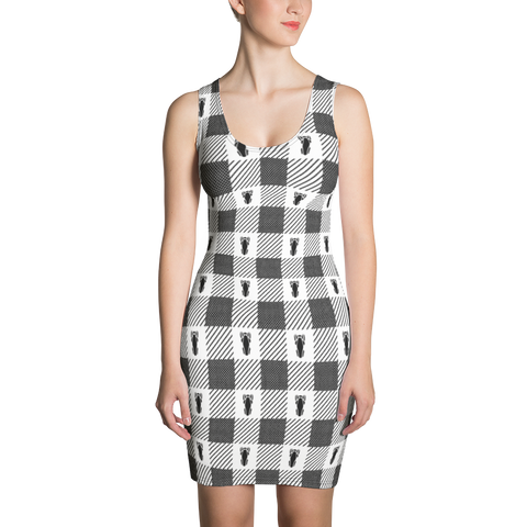P&P Dress White Plaid