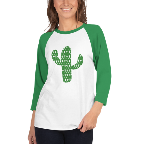 P&P 3/4 sleeve raglan shirt Green Cactus