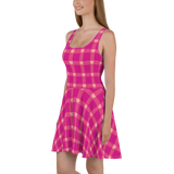 P&P Dress Hot Pink Plaid/Hearts