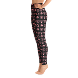 P&P Yoga Leggings Equestrian Pattern back/Baby Pink