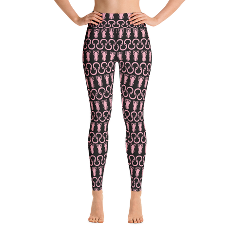 P&P Yoga Leggings Horseshoe/Logo Baby Pink