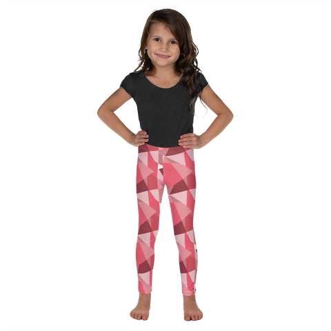 P&P Kid's Leggings Pink Triangles