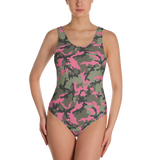 P&P One-Piece Swimsuit Green Camo
